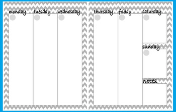 Weekly Planner - One Week on Two Pages