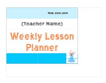 Weekly Planner- PDF version