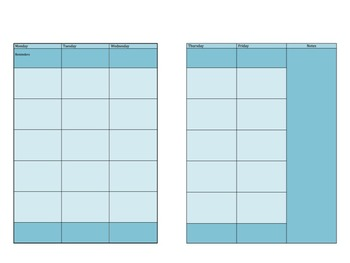 Weekly Planner Pages (Editable )