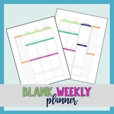 Weekly Planner (Daily To Do List) Pages - No dates