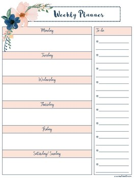 graphic relating to Free Weekly Planner titled Cost-free Weekly Planner- Portrait
