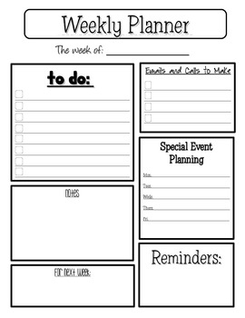 graphic about Weekly Planner Printables identified as Weekly Planner Sheet