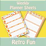 Weekly Planner Sheets - Retro Fun