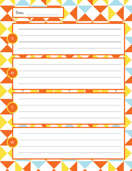 Weekly Planner Sheets - Retro Fun