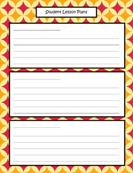 Weekly Planner Sheets - Retro Rainbow Diamond