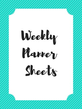 Weekly Planner Sheets (no dates)