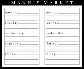 Weekly Planner - Small