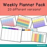 Editable Weekly Planner Template: 20 Pack!