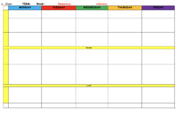photo regarding Weekly Planning Sheets named Weekly Planner Template