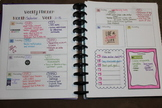 Weekly Planner Template (For ARC or Happy Planner)
