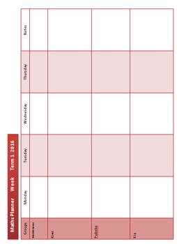 Weekly Planner Template - MS WORD
