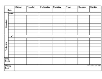 Weekly Planner Templates