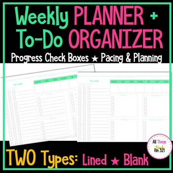 Weekly Planner + To Do Organizer! (Paper Versions - TWO Types!)