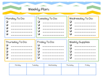 Weekly Planner and To Do List