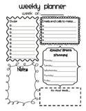 Weekly Planner (editable)