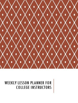 Weekly Planner for College Instructors