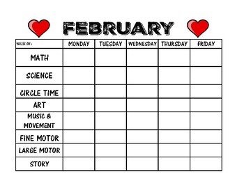 Weekly Planner for Each Month of the Year! {Pre-School, Kindergarten, 1st Grade}