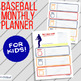 Baseball Theme Weekly Planner