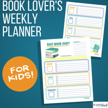 Weekly Planner for Book Lovers