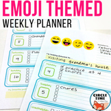 Emoji Themed Weekly Planner for Students, Send Positive Pa