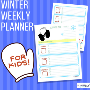 Weekly Planner for Kids: Printable Calendar with Winter Theme