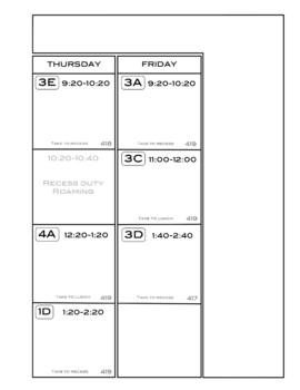 Teacher Weekly Planner Binder Art, PE, Music, Media, Technology, Language