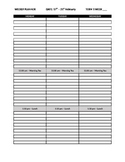 Weekly Planner template Monday-Friday plus notes, 3 blocks
