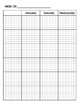 Weekly Planner with Grid