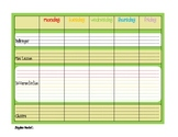 Weekly Planner with Reflection Green PDF