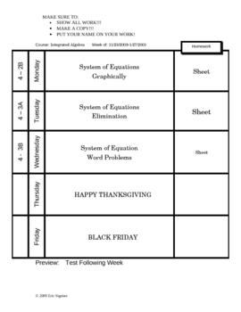 Weekly Planner/Calendar
