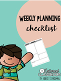 Weekly Planning Checklist