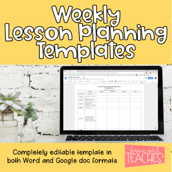 Weekly Planning Guides