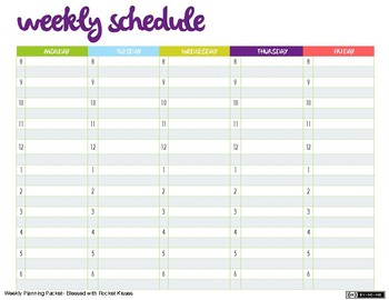 Weekly Planning Packet