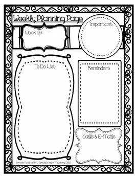 Weekly Planning Page {FREEBIE}