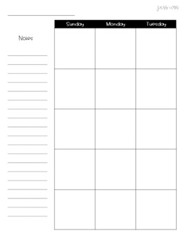 Weekly Planning Pages