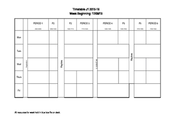 Weekly Planning Proforma