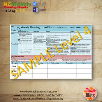 Weekly Planning Sheet Bundle - (Maths, Reading, Writing) New Zealand