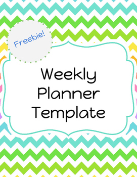 Weekly Planning Template