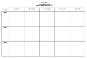 Weekly Planning Template - Editable