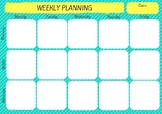 Weekly Planning Template - Green & Yellow