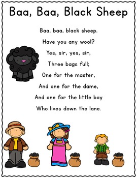 It's Nursery Rhyme Time: Baa, Baa, Black Sheep