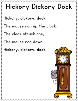 It S Nursery Rhyme Time Hickory Dickory Dock By