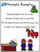 It's Nursery Rhyme Time: Humpty Dumpty