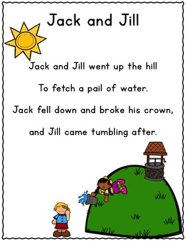 It's Nursery Rhyme Time: Jack and Jill