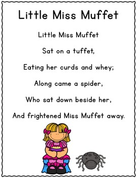 It's Nursery Rhyme Time: Little Miss Muffet