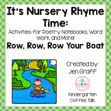 It's Nursery Rhyme Time: Row Your Boat