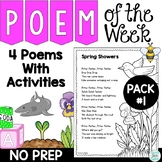 Poem of the Week with Original Poetry and Activities