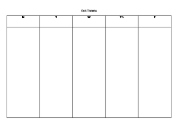 Weekly Points Template