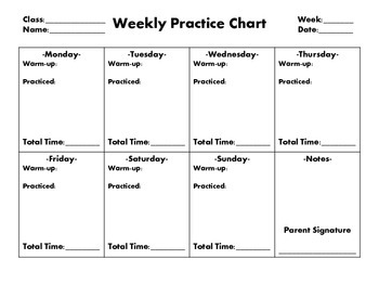 Weekly Practice Chart