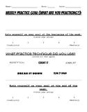 Weekly Practice Goal Sheet